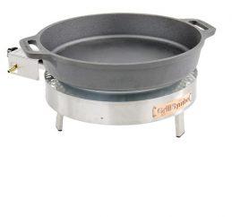 GrillSymbol Paella Frying Pan Set PRO-460 cast iron