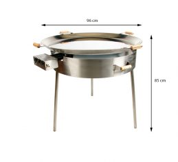 GrillSymbol Paella Cooking Set PRO-960 inox, ø 96 cm