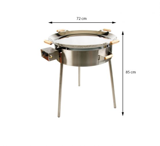 GrillSymbol Paella Frying Pan Set PRO-720 inox