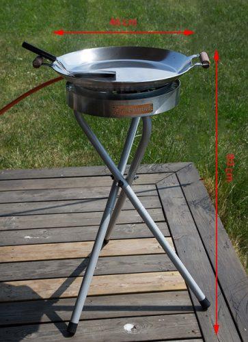 GrillSymbol Long legs for ø 30 cm gas burner
