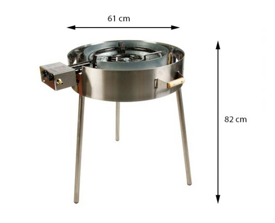 GrillSymbol Indoor and Outdoor Paella Gas Cooker TW-720i