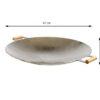 GrillSymbol Wok Pan WP-675, ø 67 cm