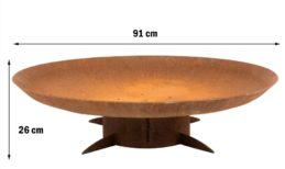GrillSymbol Chiaro XL Outdoor Wood Burning Fire Pit