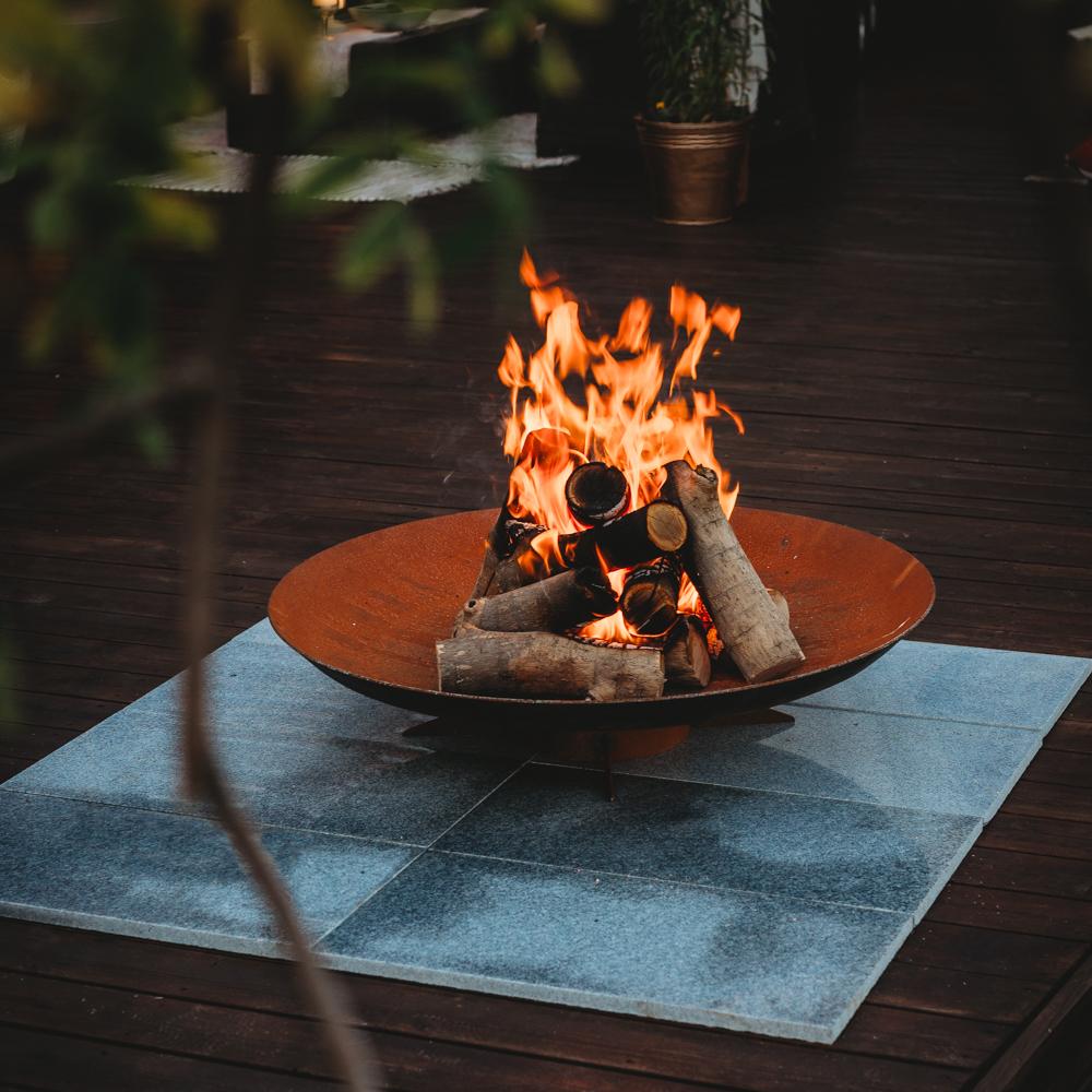 GrillSymbol Corten Steel Fire Pit Chiaro XL, ø 91 cm