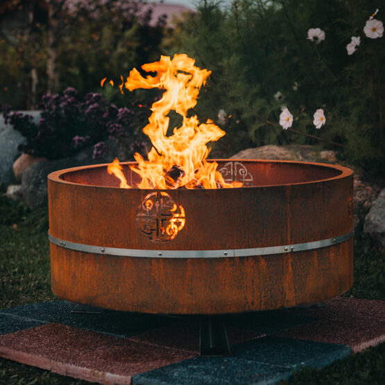 GrillSymbol Cor-Ten Steel Fire Pit Lucas