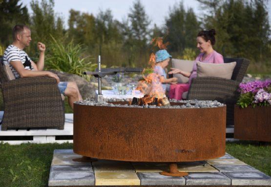 GrillSymbol Kiuas Outdoor Wood Burning Fire Pit