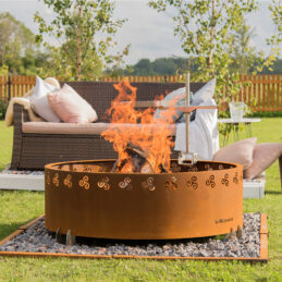 GrillSymbol Cor-Ten Steel Fire Pit Legend