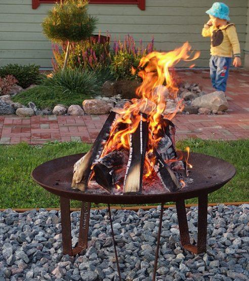 GrillSymbol Elegante Outdoor Wood Burning Fire Pit