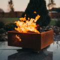 GrillSymbol Cor-Ten Steel Fire Pit Piazza