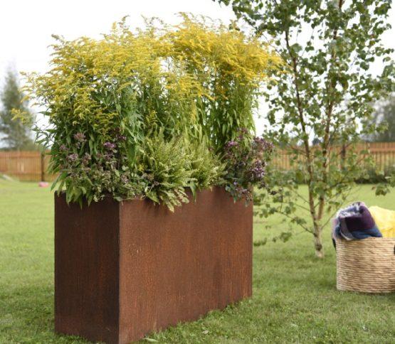 GrillSymbol Cor-Ten Steel Flower Pot Lilly