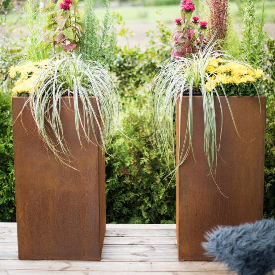 GrillSymbol Cor-Ten Steel Flower Pot Manhattan