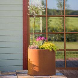 GrillSymbol Cor-Ten Steel Flower Pot Myy