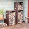 Cor-Ten Firewood Rack WoodStock