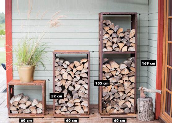 Corten Firewood Rack WoodStock