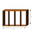 Cor-Ten Firewood Module WoodStock Wall