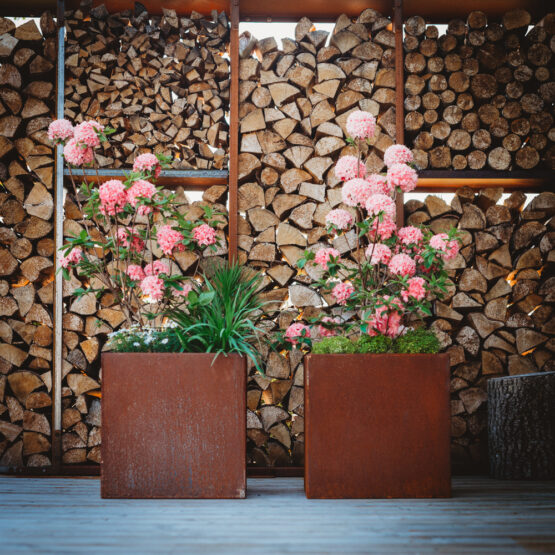Cor-Ten Steel Flower Pot Fiora-S