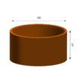 GrillSymbol Cor-Ten Steel Flower Pot Fiora S